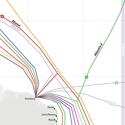Submarine Cable Map 2018
